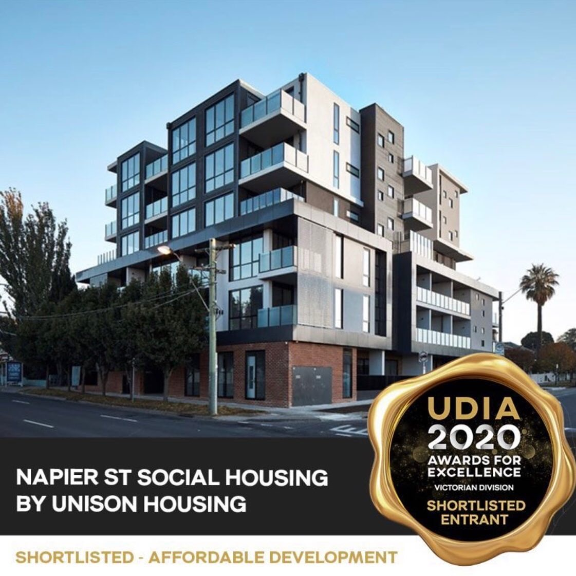 Shortlisted in the UDIA Victoria Awards – Affordable Development category.